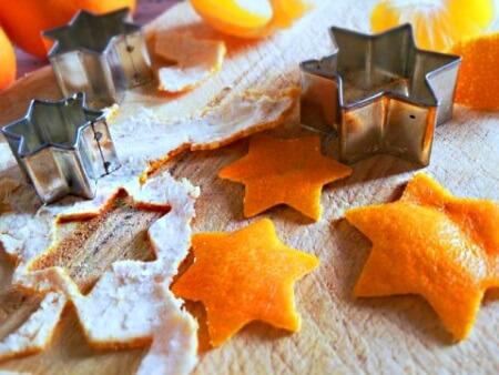 фигурки из мандариновых шкурок на елку