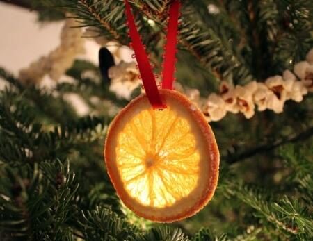 украшения на елку из мандарина