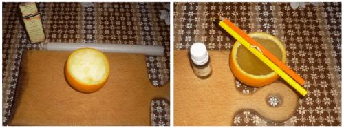 ароматическая свечка из апельсина