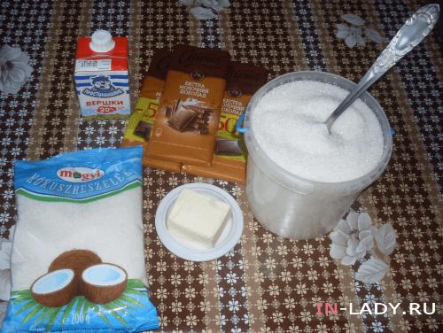 ингредиенты для батончиков баунти