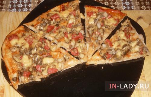 Рецепт пиццы на скорую руку в духовке