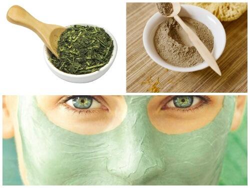 маска для лица из зеленого чая и глины