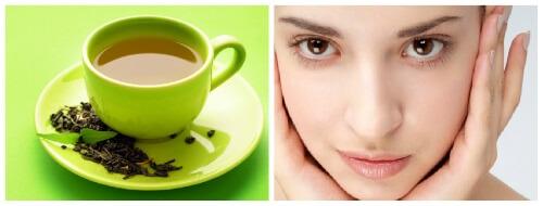 зеленый чай в уходе за кожей