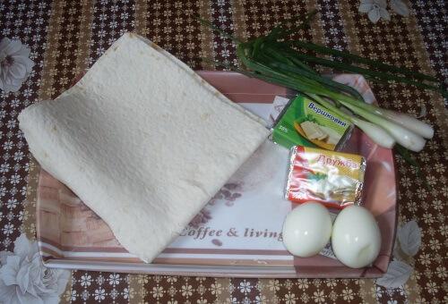 конвертики из лаваша с начинкой ингредиенты