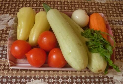 ингредиенты для рагу из баклажанов