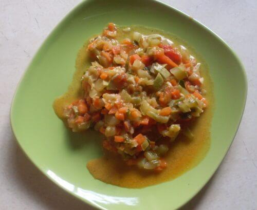 вкусное рагу с кабачками