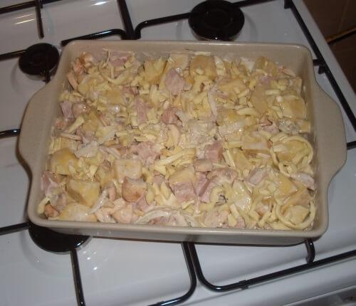 рецепт картофельной запеканки с грибами и сыром