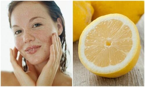 маски с лимоном от пигментных пятен